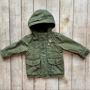 Baby Gap boys army green coat size 2 toddler